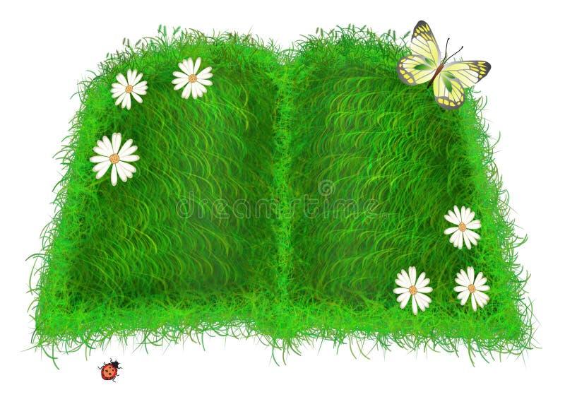 książkowa zieleń ilustracja wektor