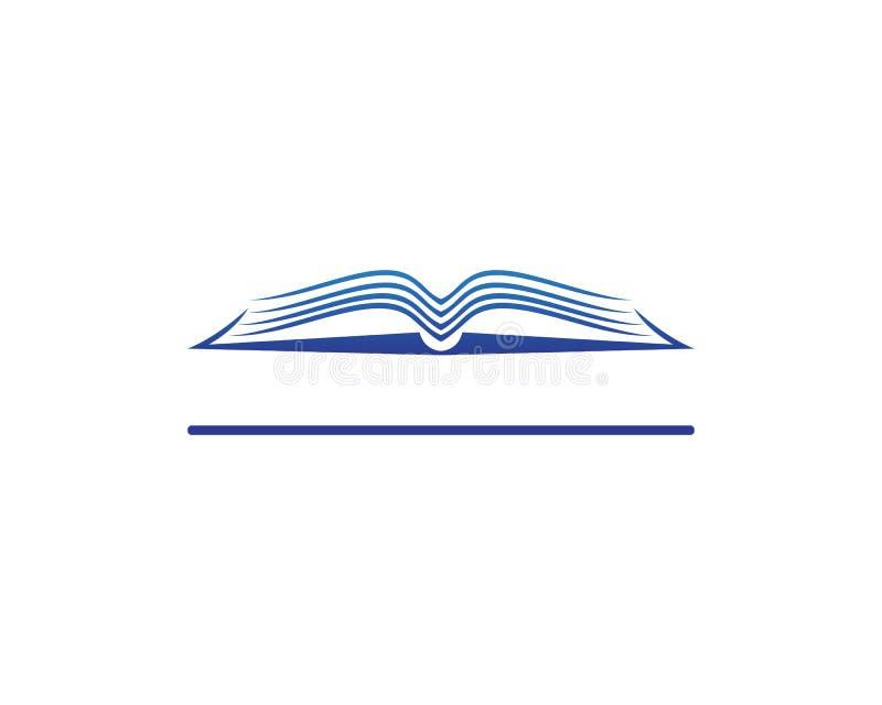 Książkowe czytelnicze loga i symboli/lów szablonu ikony royalty ilustracja