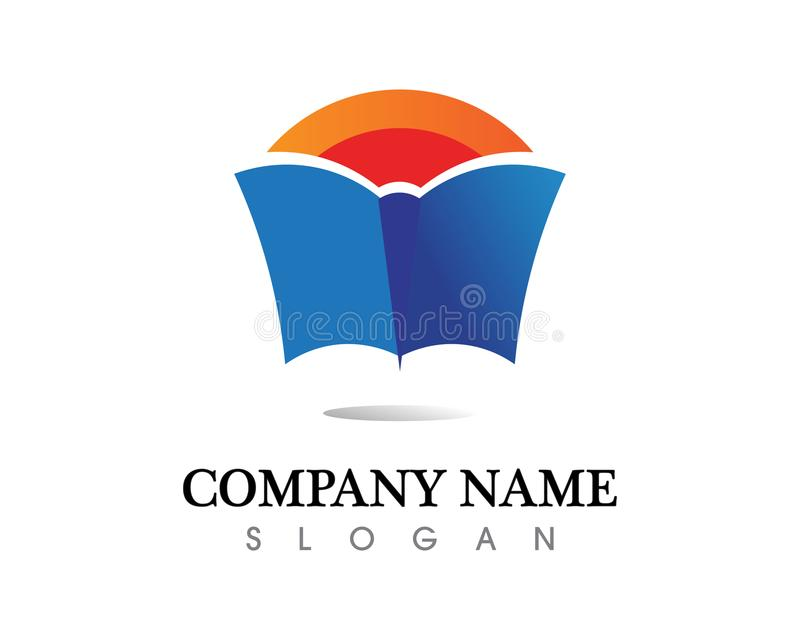 Książkowe czytelnicze loga i symboli/lów szablonu ikony app ilustracja wektor