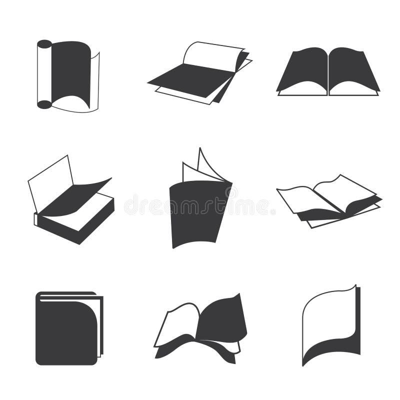 Książkowe ikony ilustracja wektor