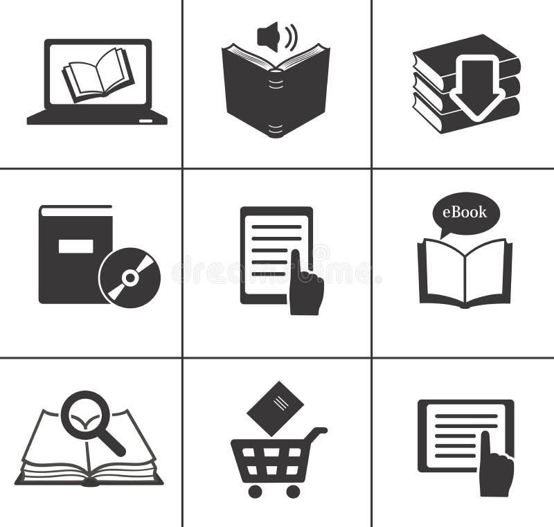 Książkowe ikony ustawiać. royalty ilustracja