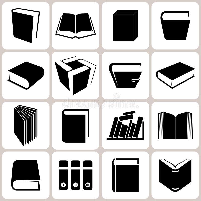 Książkowe ikony Ustawiać ilustracja wektor
