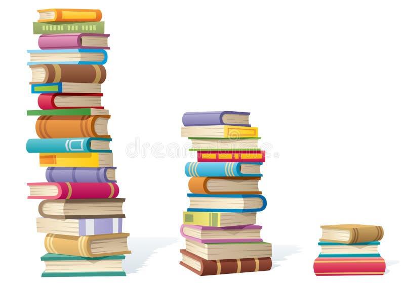 książkowe sterty ilustracji