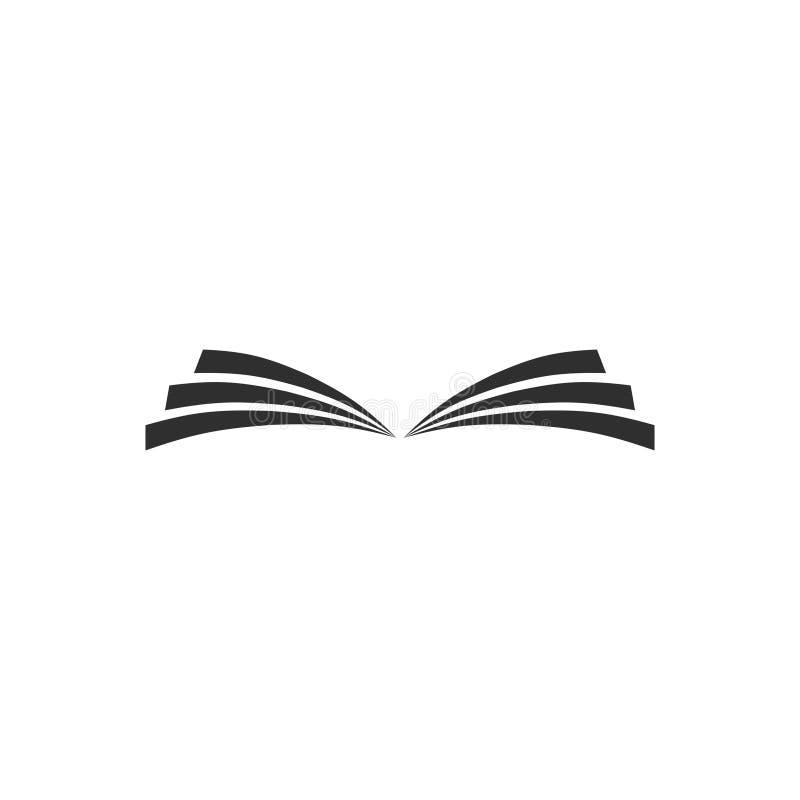 Książkowego ikona wektoru odosobniony modny styl 9 ilustracja wektor