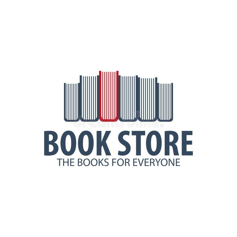 Książkowego sklepu logo Edukacja i książka emblemat również zwrócić corel ilustracji wektora royalty ilustracja