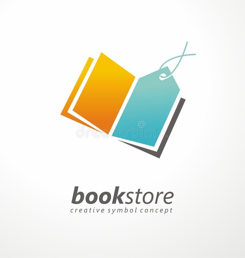 Książkowego sklepu logo kreatywnie projekt ilustracja wektor