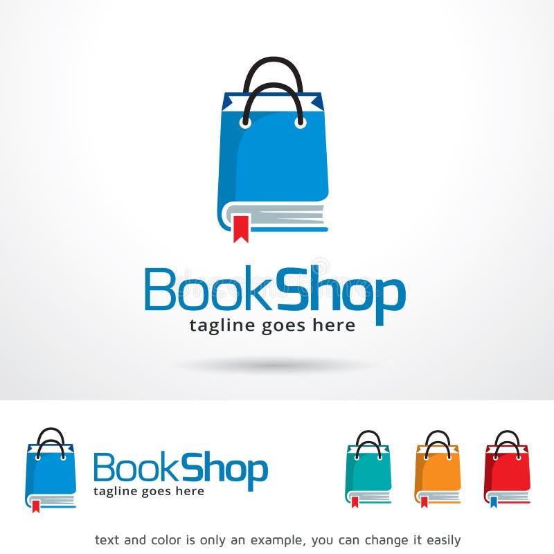 Książkowego sklepu paczki loga szablonu projekta wektor royalty ilustracja