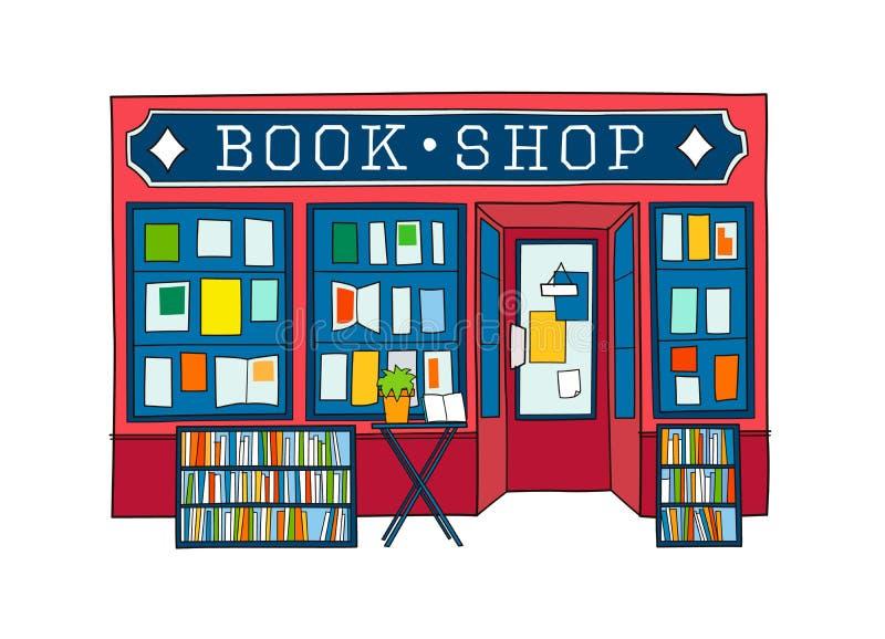 Książkowego sklepu przodu wektoru ilustracja obrazy stock
