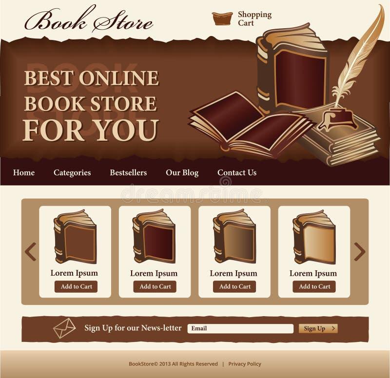 Książkowego sklepu szablon royalty ilustracja