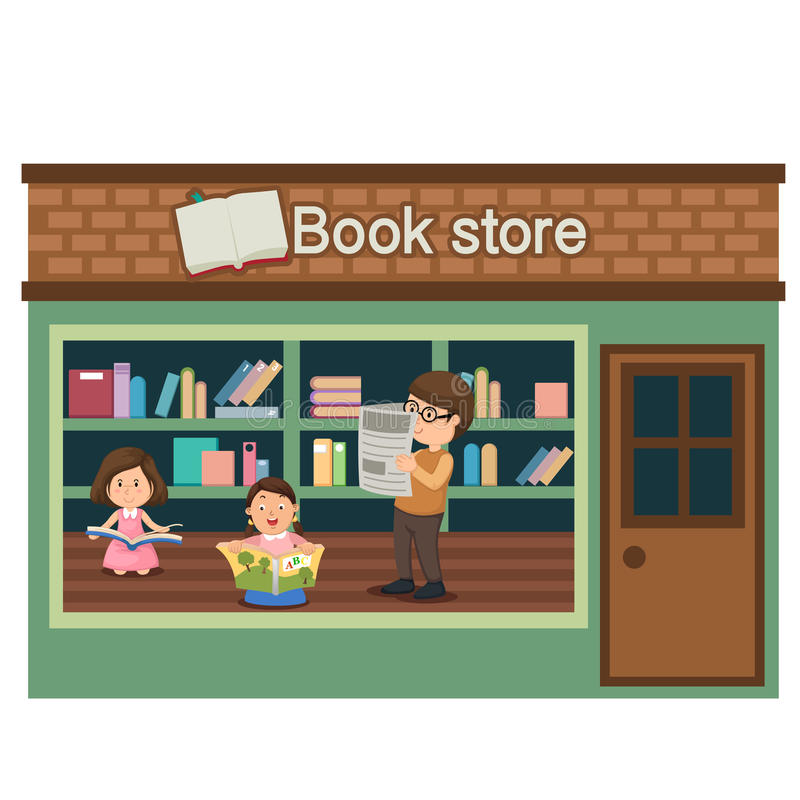 Książkowego sklepu wektor royalty ilustracja