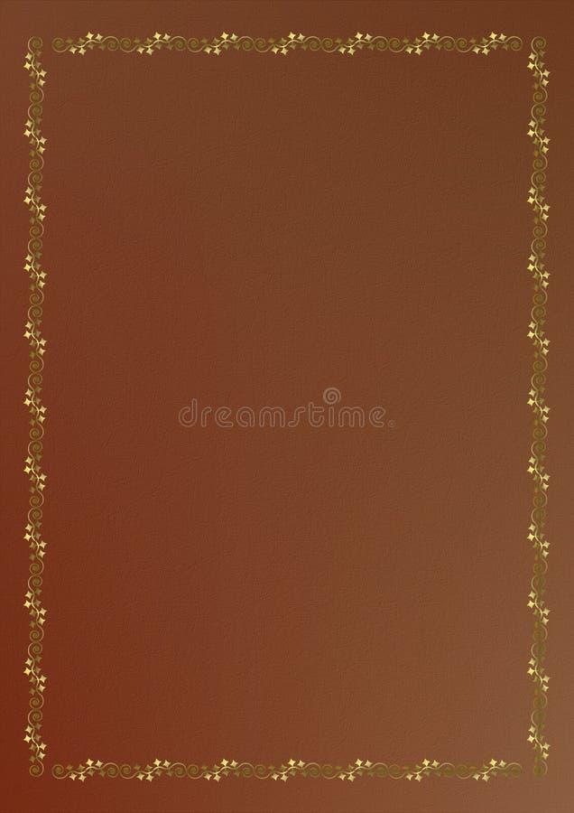książkowej brąz pokrywy złocisty ornament ilustracja wektor