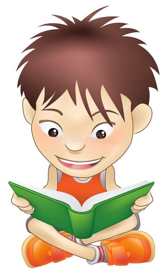 książkowej chłopiec czytelniczy potomstwa royalty ilustracja