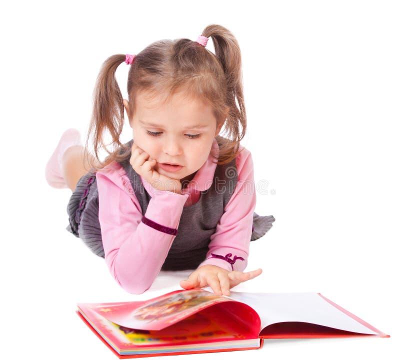 książkowej dziewczyny mały czytanie fotografia stock