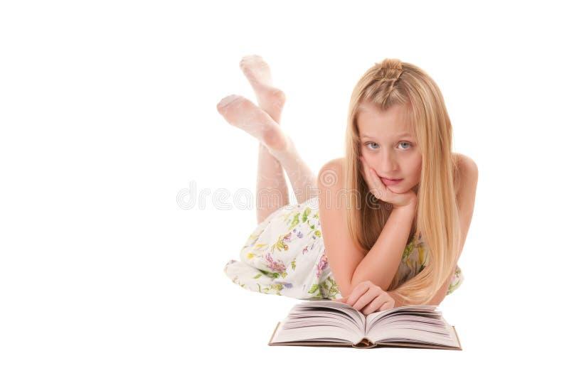 książkowej dziewczyny mały target482_0_ obraz stock