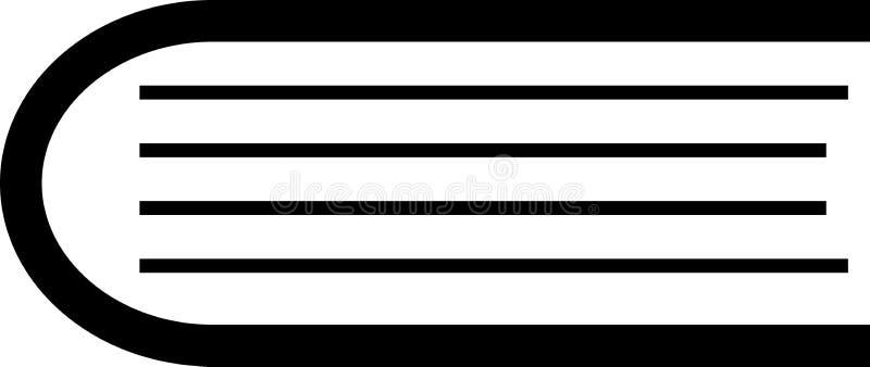 Książkowej ikony prosty odosobniony na białym tle obrazy royalty free