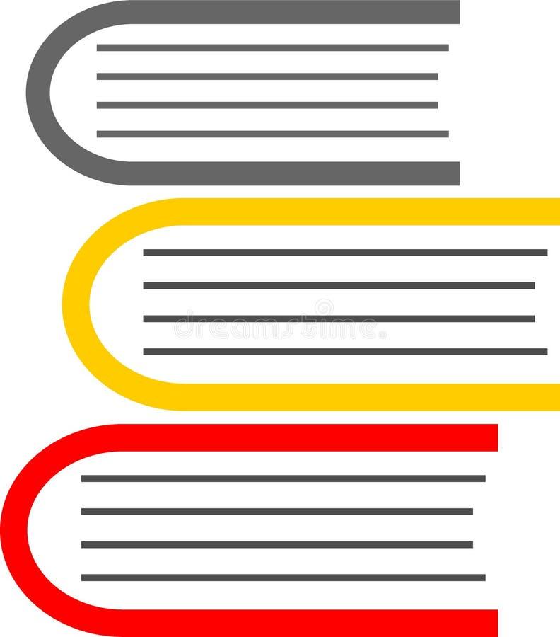 Książkowej ikony prosty odosobniony na białym tle obrazy stock