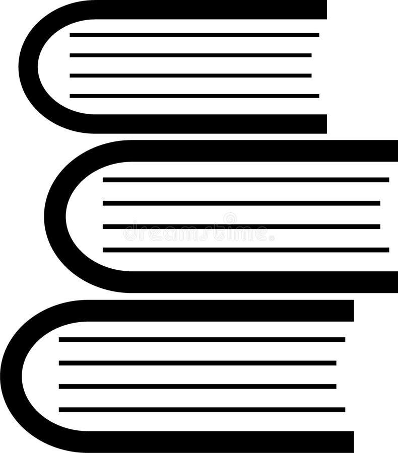 Książkowej ikony prosty odosobniony na białym tle obraz stock