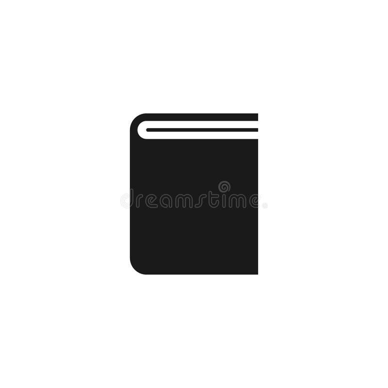 Książkowej ilustraci ikona Książkowy loga wektor royalty ilustracja