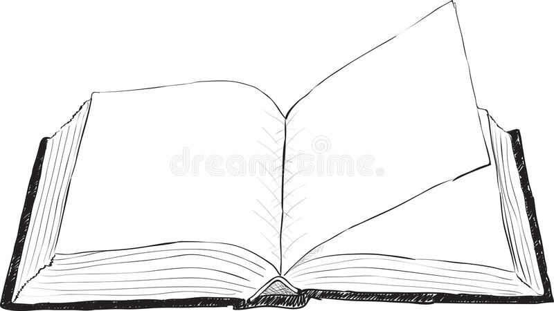 książkowej ilustraci otwarty szorstki wektor royalty ilustracja