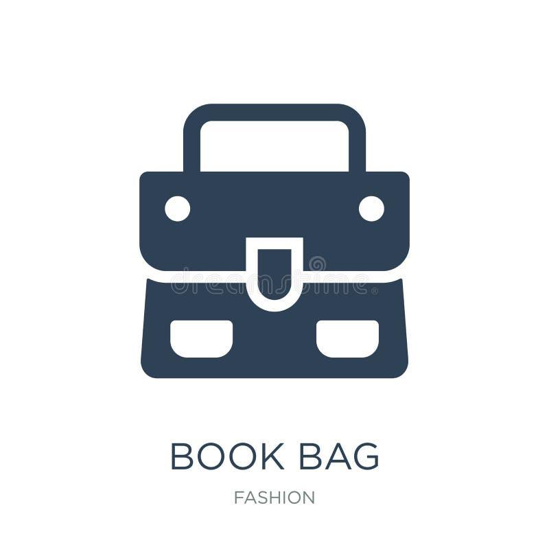 książkowej torby ikona w modnym projekta stylu Książkowej torby ikona odizolowywająca na białym tle książkowej torby wektorowej i royalty ilustracja