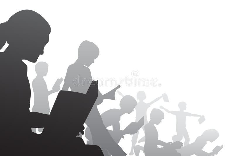 Download Książkowi dzieciaki ilustracja wektor. Ilustracja złożonej z wkuwanie - 13325786