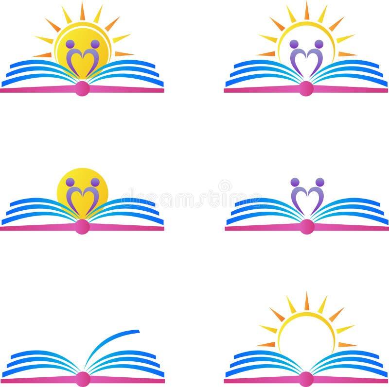 Książkowi logowie ilustracja wektor