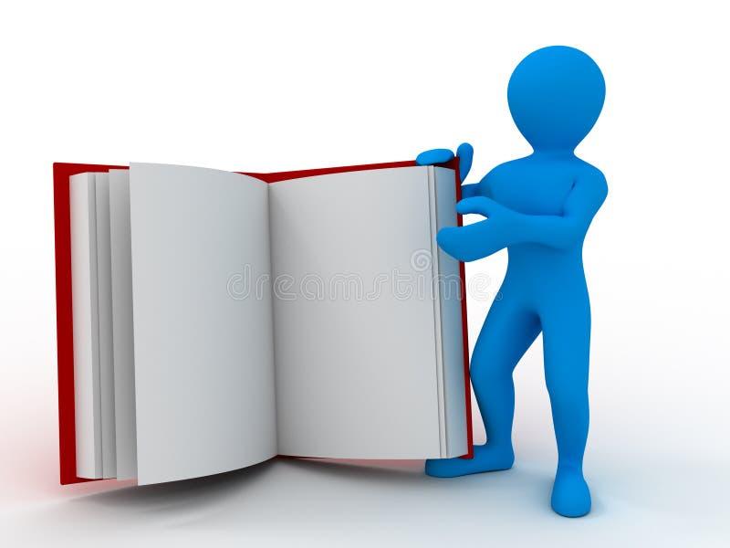 książkowi mężczyzna ilustracji