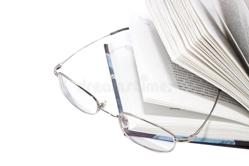 książkowi szkła otwierają zdjęcie royalty free