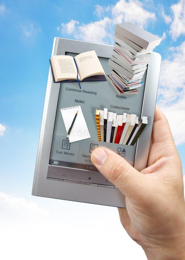 książkowy 3d czytanie e obraz stock