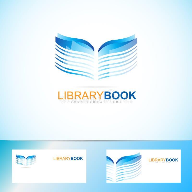 Książkowy biblioteczny logo ilustracji