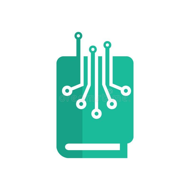 Książkowy Cyfrowego loga ikony projekt ilustracja wektor
