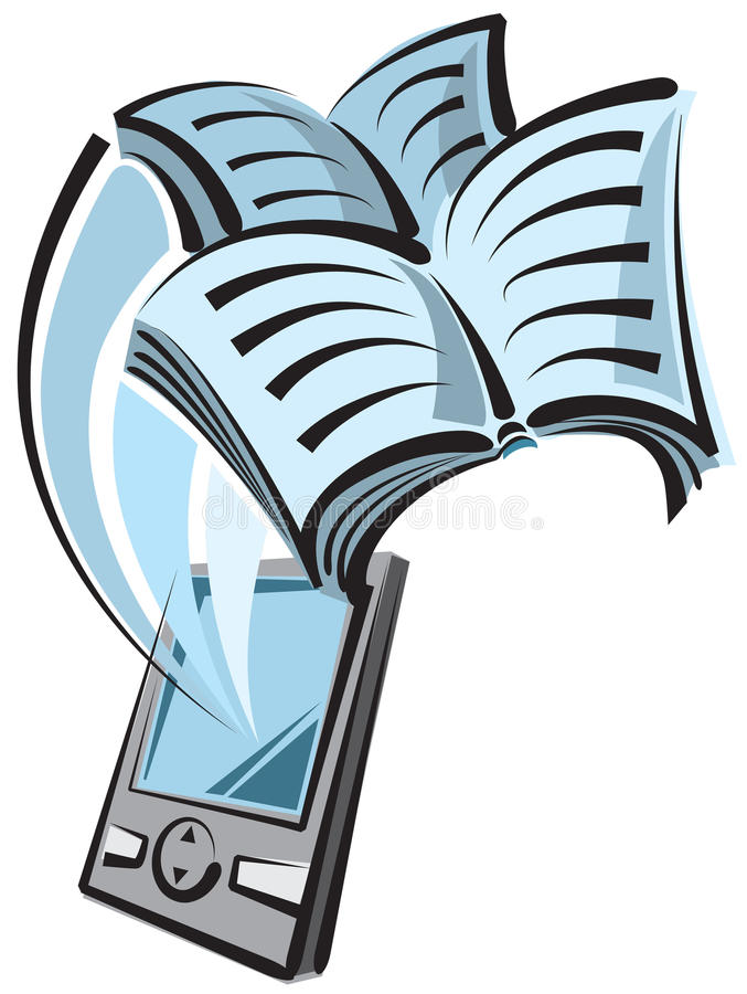 książkowy cyfrowy czytelnik royalty ilustracja
