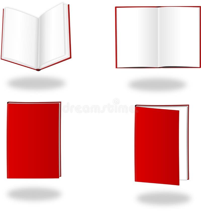 książkowy czerwony set zdjęcie stock