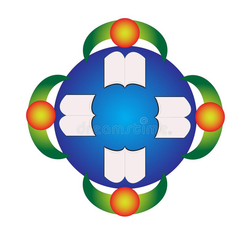 Książkowy czytelnika logo royalty ilustracja