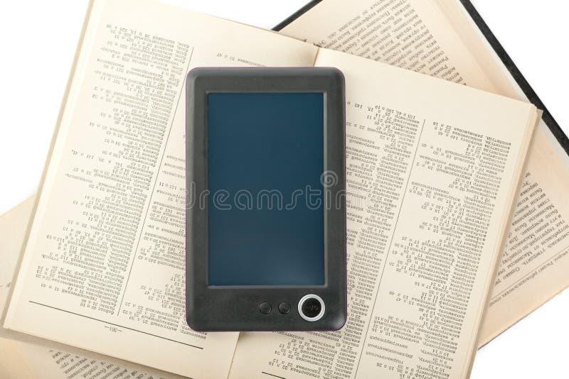 Książkowy Digital czytelnik fotografia stock