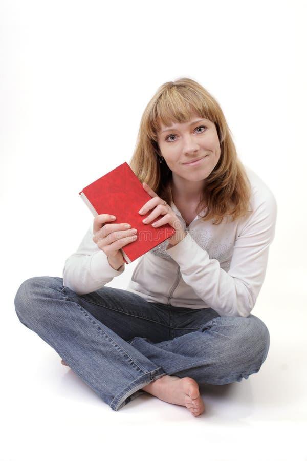 książkowy dziewczyny mienia read obraz royalty free