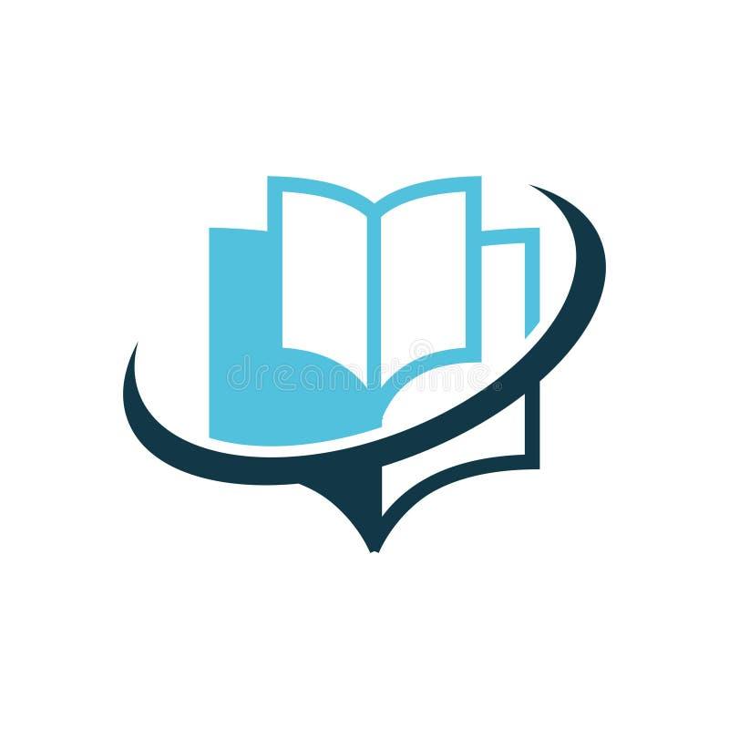 Książkowy edukacja logo ilustracji