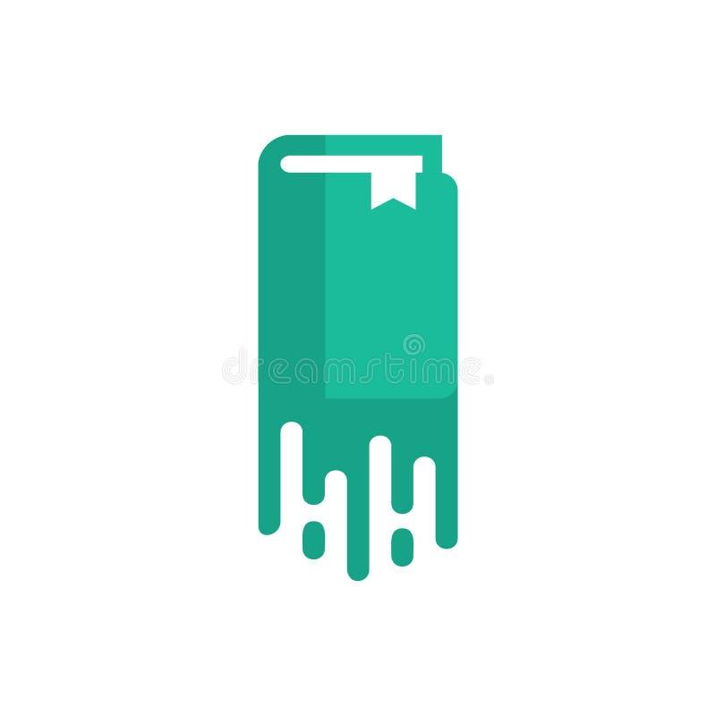 Książkowy farba loga ikony projekt royalty ilustracja