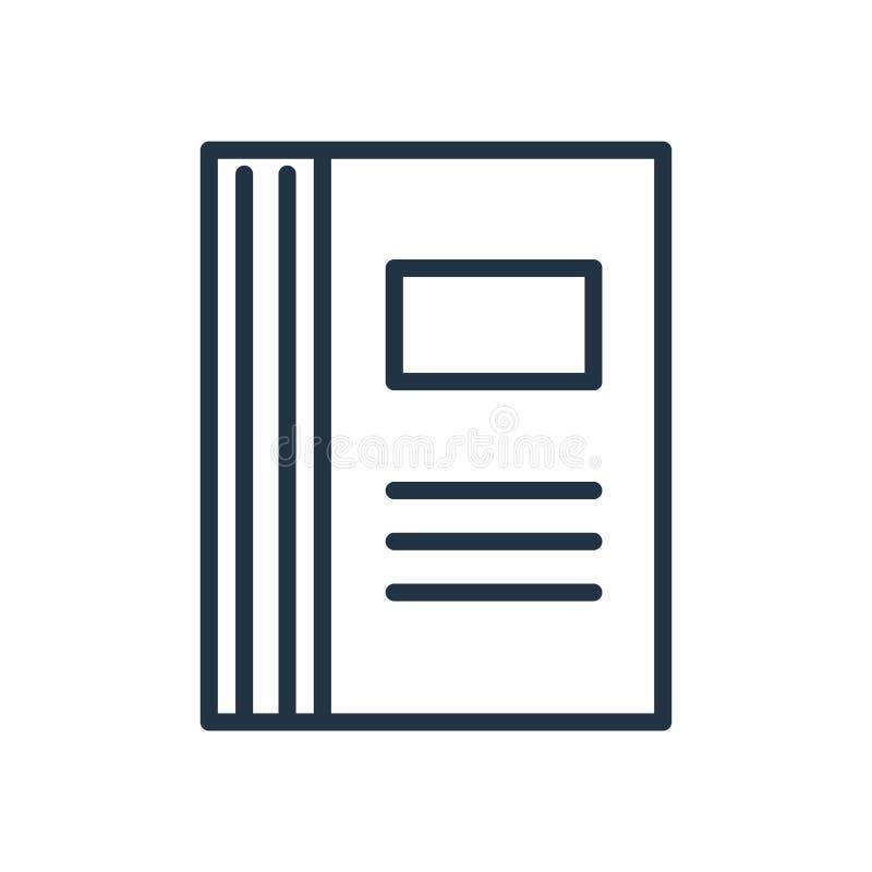 Książkowy ikona wektor odizolowywający na białym tle, książka znak ilustracja wektor