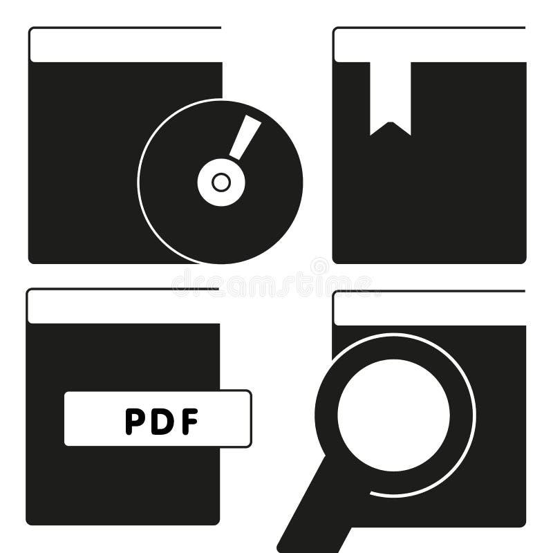 Książkowy ikona wektor odizolowywający na białym tle, loga książka znak na przejrzystym tle pojęcie, wypełniał czarnego symbol royalty ilustracja