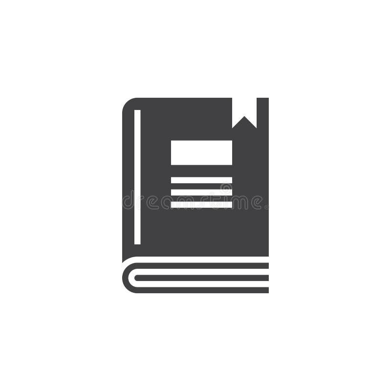 Książkowy ikona wektor, stały logo, piktogram odizolowywający na bielu royalty ilustracja