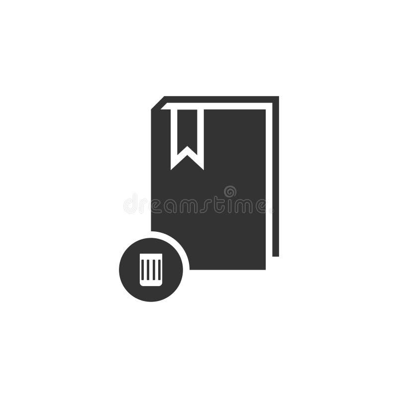książkowy ikony mieszkanie ilustracja wektor