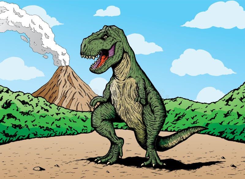 książkowy komiczny rex t ilustracja wektor