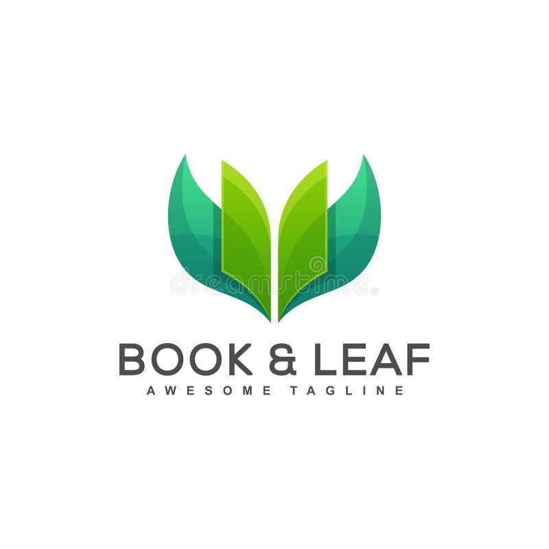 Książkowy liścia pojęcia ilustracji wektor royalty ilustracja
