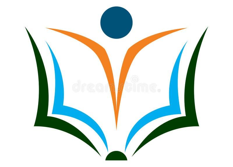 książkowy logo royalty ilustracja