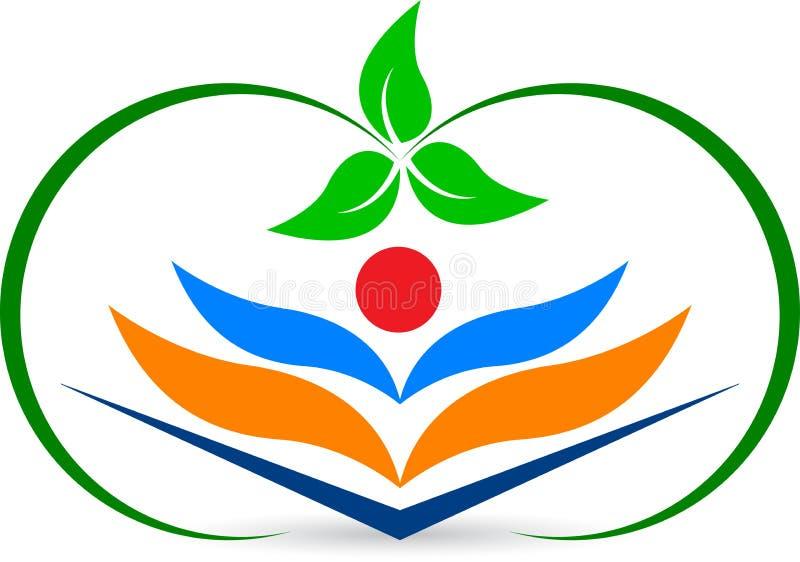 Książkowy logo ilustracji