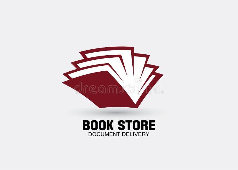 Książkowy logo ikony projekta wektor royalty ilustracja