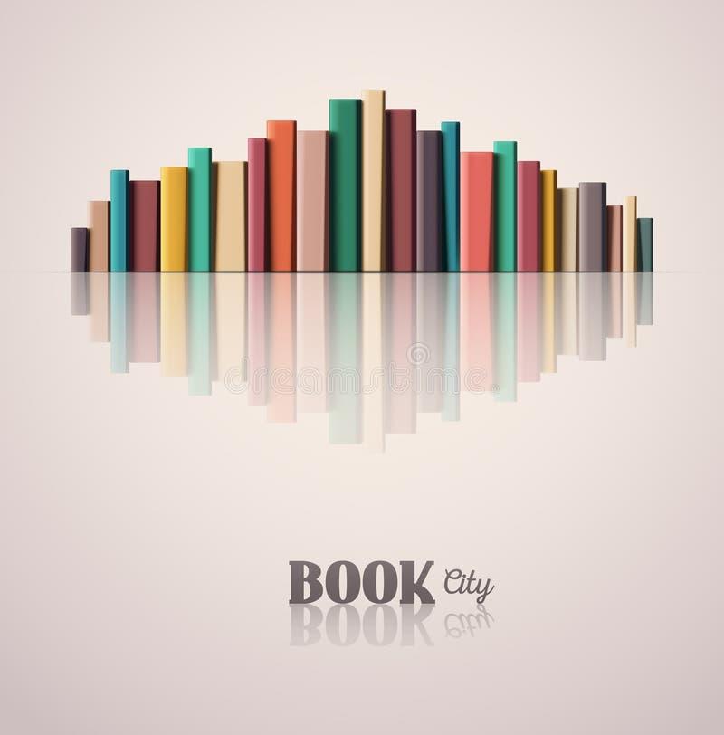 Książkowy miasto royalty ilustracja