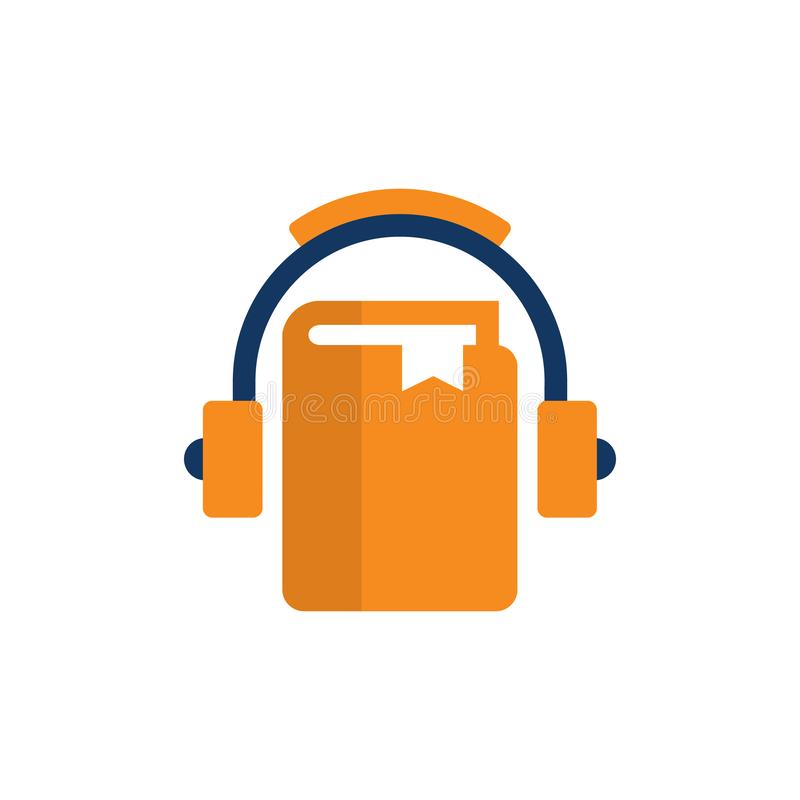 Książkowy Muzyczny logo ikony projekt ilustracja wektor