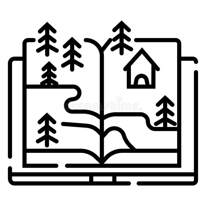 książkowy narastający drzewo royalty ilustracja